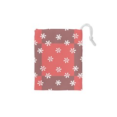 Seed Life Seamless Remix Flower Floral Red White Drawstring Pouches (xs)  by Mariart