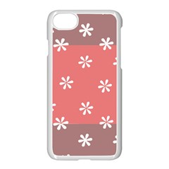 Seed Life Seamless Remix Flower Floral Red White Apple Iphone 7 Seamless Case (white) by Mariart