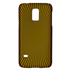 Stripy Starburst Effect Light Orange Green Line Galaxy S5 Mini by Mariart