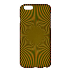 Stripy Starburst Effect Light Orange Green Line Apple Iphone 6 Plus/6s Plus Hardshell Case by Mariart