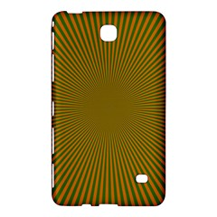 Stripy Starburst Effect Light Orange Green Line Samsung Galaxy Tab 4 (8 ) Hardshell Case  by Mariart