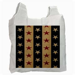 Stars Stripes Grey Blue Recycle Bag (one Side) by Mariart