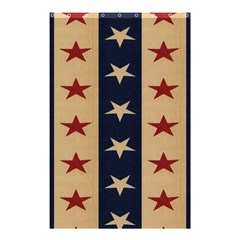 Stars Stripes Grey Blue Shower Curtain 48  X 72  (small)  by Mariart