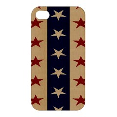 Stars Stripes Grey Blue Apple Iphone 4/4s Premium Hardshell Case by Mariart
