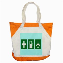 Traffic Signs Hospitals, Airplanes, Petrol Stations Accent Tote Bag by Mariart