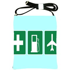 Traffic Signs Hospitals, Airplanes, Petrol Stations Shoulder Sling Bags by Mariart