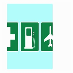 Traffic Signs Hospitals, Airplanes, Petrol Stations Small Garden Flag (two Sides) by Mariart