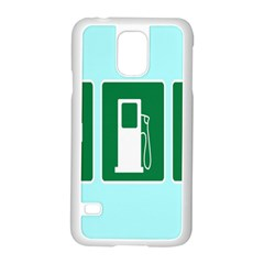 Traffic Signs Hospitals, Airplanes, Petrol Stations Samsung Galaxy S5 Case (white)