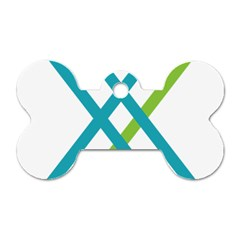 Symbol X Blue Green Sign Dog Tag Bone (one Side) by Mariart