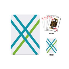Symbol X Blue Green Sign Playing Cards (mini)  by Mariart