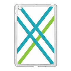 Symbol X Blue Green Sign Apple Ipad Mini Case (white) by Mariart