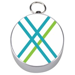 Symbol X Blue Green Sign Silver Compasses by Mariart