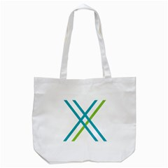 Symbol X Blue Green Sign Tote Bag (white) by Mariart