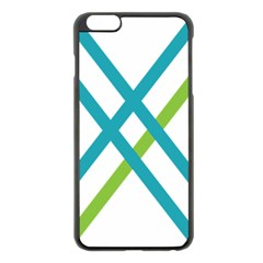 Symbol X Blue Green Sign Apple Iphone 6 Plus/6s Plus Black Enamel Case by Mariart