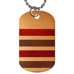 Vintage Striped Polka Dot Red Brown Dog Tag (two Sides) by Mariart