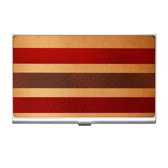 Vintage Striped Polka Dot Red Brown Business Card Holders by Mariart