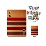 Vintage Striped Polka Dot Red Brown Playing Cards 54 (Mini)  Front - Spade6