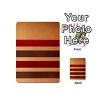 Vintage Striped Polka Dot Red Brown Playing Cards 54 (Mini)  Back