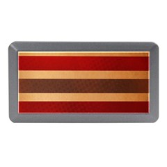 Vintage Striped Polka Dot Red Brown Memory Card Reader (mini) by Mariart