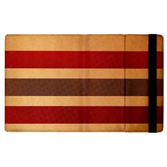 Vintage Striped Polka Dot Red Brown Apple Ipad 2 Flip Case by Mariart