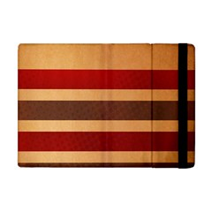 Vintage Striped Polka Dot Red Brown Apple Ipad Mini Flip Case by Mariart