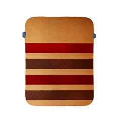 Vintage Striped Polka Dot Red Brown Apple Ipad 2/3/4 Protective Soft Cases by Mariart