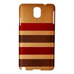 Vintage Striped Polka Dot Red Brown Samsung Galaxy Note 3 N9005 Hardshell Case by Mariart