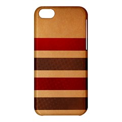 Vintage Striped Polka Dot Red Brown Apple Iphone 5c Hardshell Case by Mariart