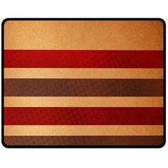Vintage Striped Polka Dot Red Brown Double Sided Fleece Blanket (medium)  by Mariart