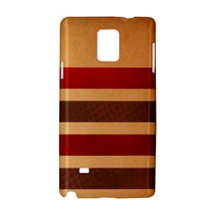 Vintage Striped Polka Dot Red Brown Samsung Galaxy Note 4 Hardshell Case by Mariart