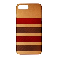Vintage Striped Polka Dot Red Brown Apple Iphone 7 Plus Hardshell Case by Mariart