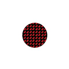 Watermelon Slice Red Black Fruite 1  Mini Buttons by Mariart