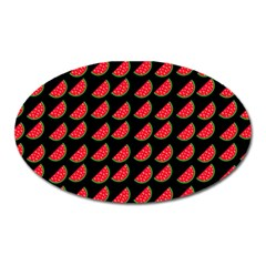Watermelon Slice Red Black Fruite Oval Magnet by Mariart