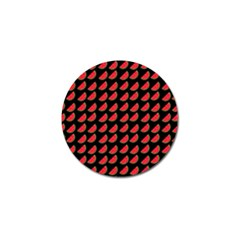 Watermelon Slice Red Black Fruite Golf Ball Marker by Mariart