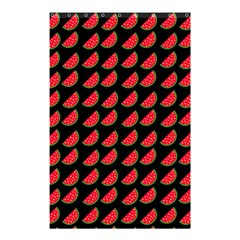Watermelon Slice Red Black Fruite Shower Curtain 48  X 72  (small)  by Mariart