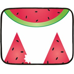Watermelon Slice Red Green Fruite Double Sided Fleece Blanket (mini)  by Mariart