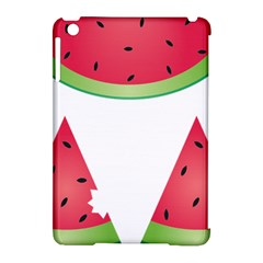 Watermelon Slice Red Green Fruite Apple Ipad Mini Hardshell Case (compatible With Smart Cover) by Mariart
