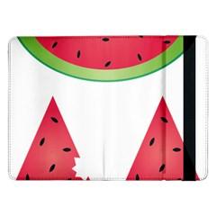 Watermelon Slice Red Green Fruite Samsung Galaxy Tab Pro 12 2  Flip Case by Mariart