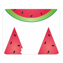 Watermelon Slice Red Green Fruite Double Sided Flano Blanket (large)  by Mariart