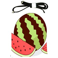 Watermelon Slice Red Green Fruite Circle Shoulder Sling Bags by Mariart