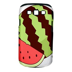 Watermelon Slice Red Green Fruite Circle Samsung Galaxy S Iii Classic Hardshell Case (pc+silicone) by Mariart