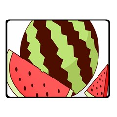 Watermelon Slice Red Green Fruite Circle Double Sided Fleece Blanket (small)  by Mariart