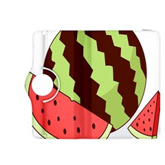 Watermelon Slice Red Green Fruite Circle Kindle Fire Hdx 8 9  Flip 360 Case by Mariart