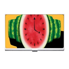 Watermelon Slice Red Orange Green Black Fruite Time Business Card Holders by Mariart