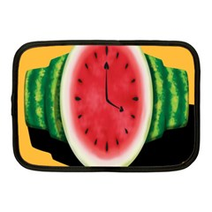 Watermelon Slice Red Orange Green Black Fruite Time Netbook Case (medium)  by Mariart