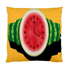 Watermelon Slice Red Orange Green Black Fruite Time Standard Cushion Case (two Sides) by Mariart