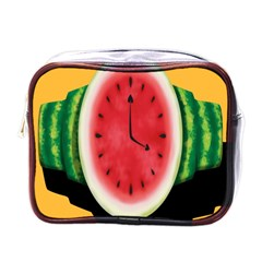 Watermelon Slice Red Orange Green Black Fruite Time Mini Toiletries Bags by Mariart