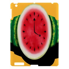 Watermelon Slice Red Orange Green Black Fruite Time Apple Ipad 3/4 Hardshell Case by Mariart
