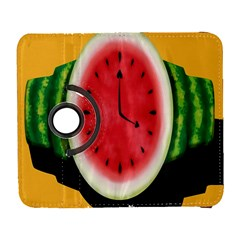 Watermelon Slice Red Orange Green Black Fruite Time Galaxy S3 (flip/folio) by Mariart