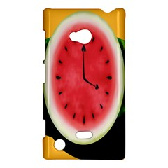 Watermelon Slice Red Orange Green Black Fruite Time Nokia Lumia 720 by Mariart